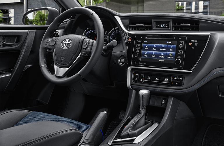2018 Toyota Corolla steering wheel and dashboard