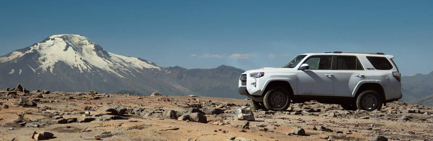2018 Toyota 4Runner parked near the base of a mountain