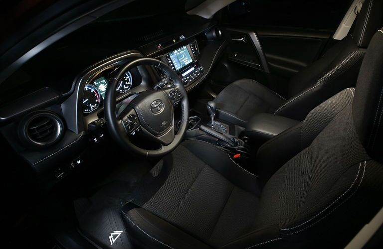 2018 Toyota RAV4 Adventure Interior View in Black