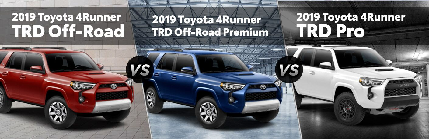 2019 toyota 4runner trd off road vs trd off road premium vs trd pro. Black Bedroom Furniture Sets. Home Design Ideas
