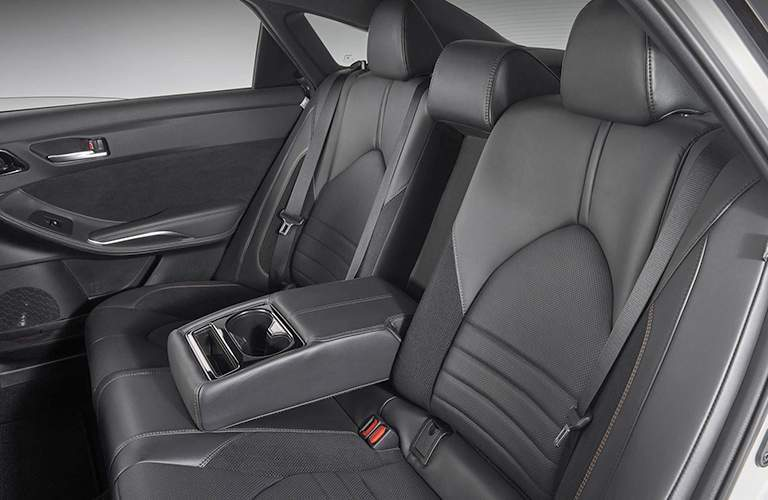 Rear Seating in the 2019 Toyota Avalon in Black