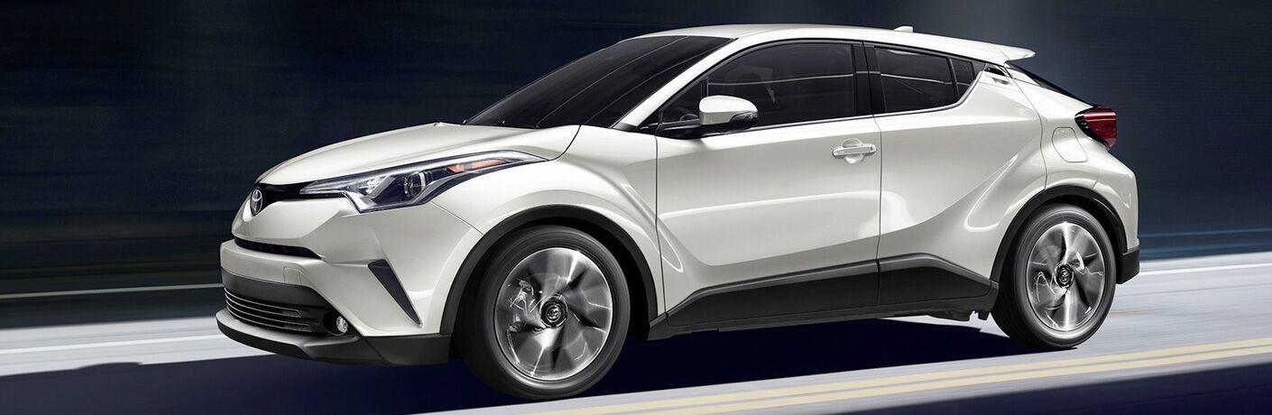 2019 Toyota C-HR in white side profile
