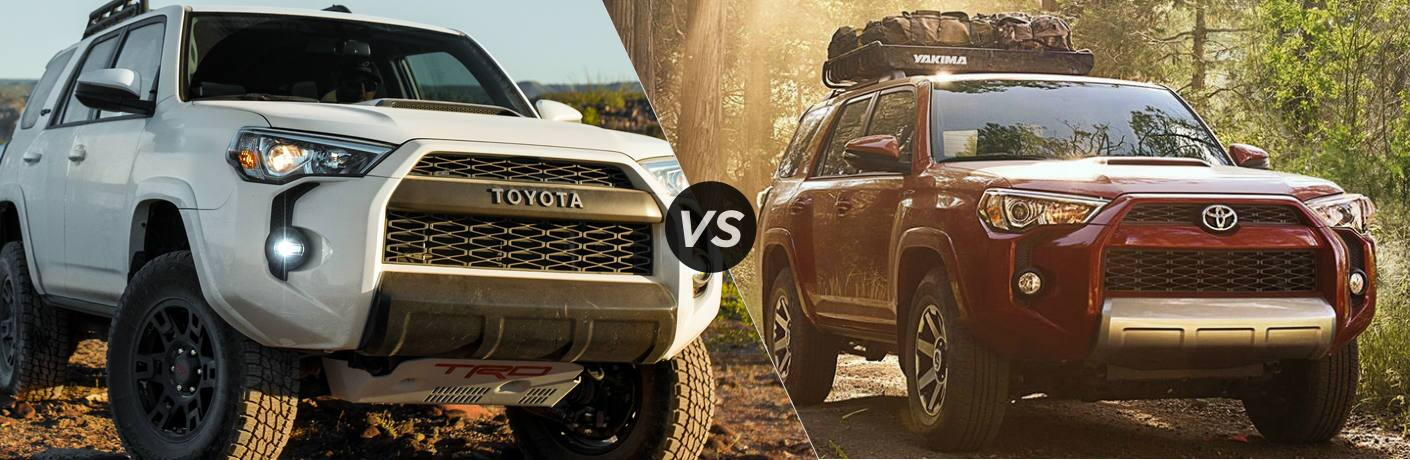 Split screen images of the 2019 Toyota 4Runner and 2018 Toyota 4Runner