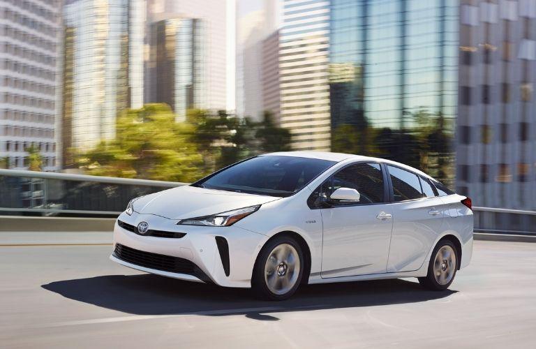 2019 Toyota Prius driving on expressway