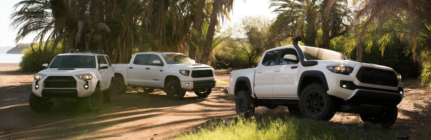 2019 Toyota TRD Pro Vehicles Exterior Views in White Coloring