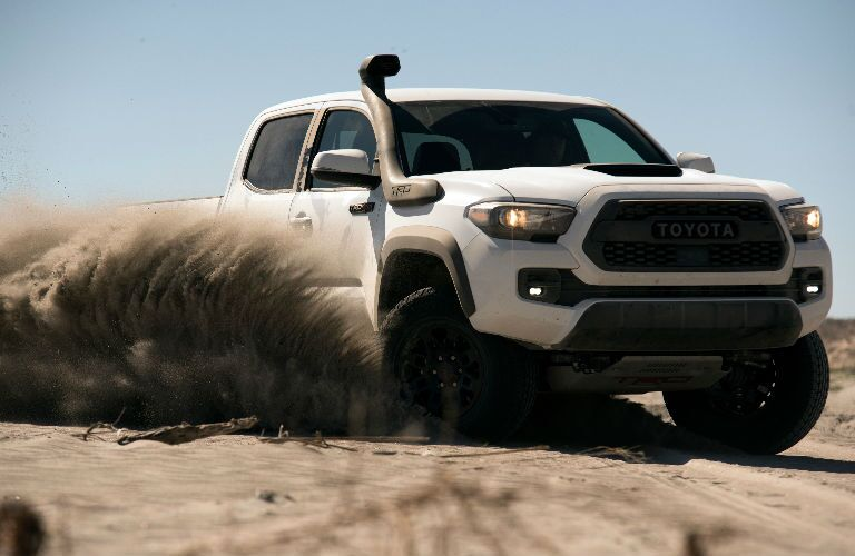 2019 Toyota Tacoma TRD Pro Exterior View in White of Side and Front End