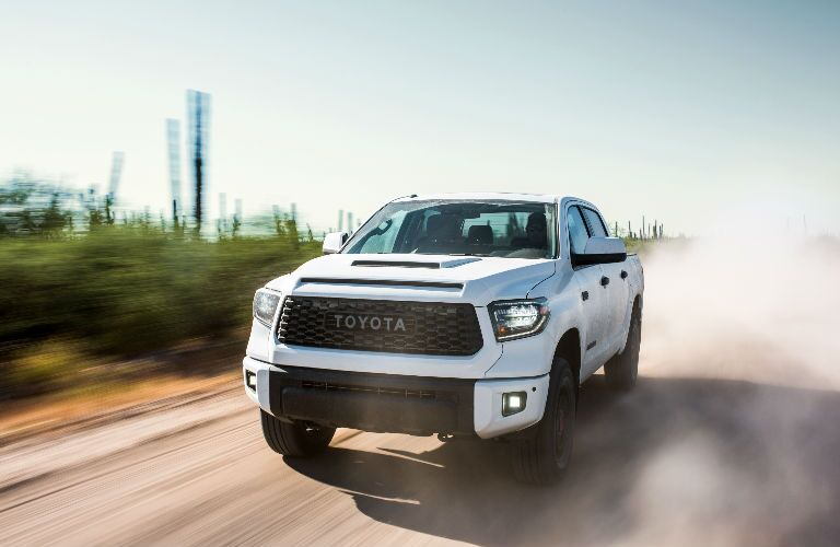 2019 Toyota Tundra TRD Pro In White Exterior Front End View
