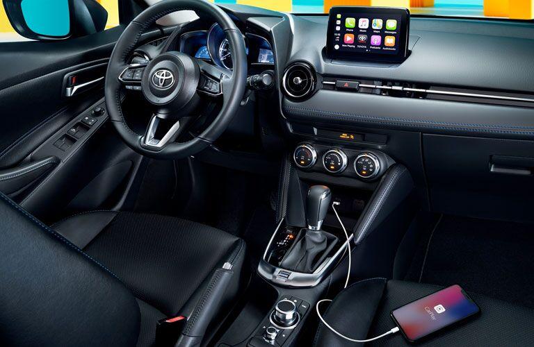 Interior view of 2020 Toyota Yaris Hatchback