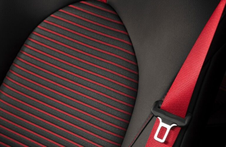 Red and black seats in 2020 Toyota Camry TRD