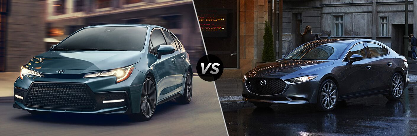 2020 Toyota Corolla vs 2019 Mazda3 Sedan