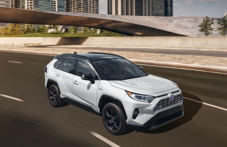White 2020 Toyota RAV4 Hybrid