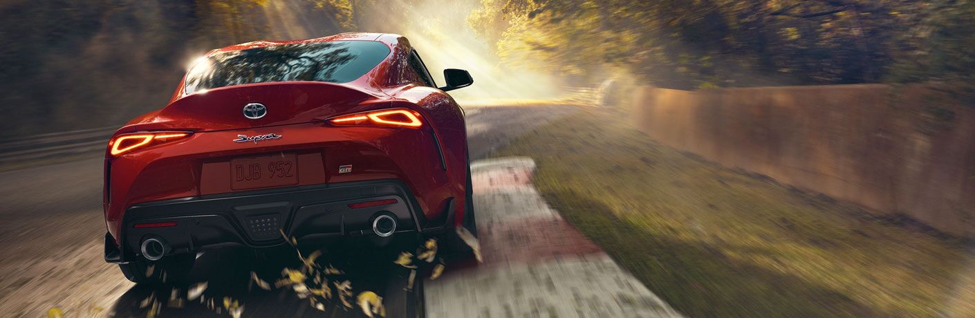 2020 Toyota Supra rear exterior in red