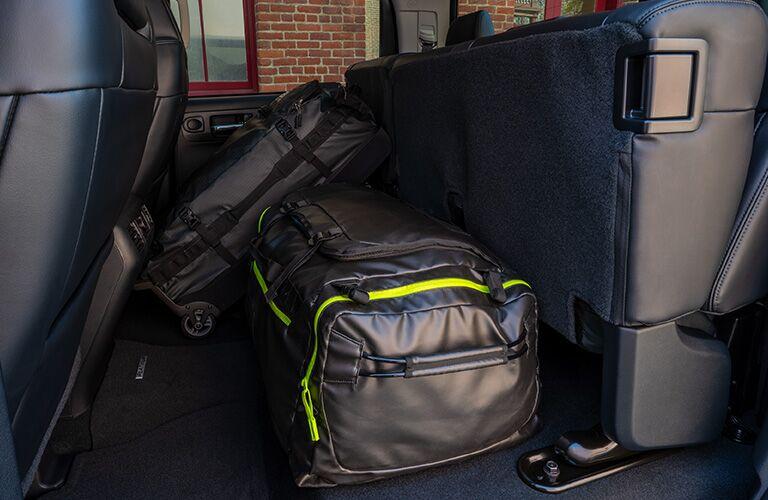 2020 Toyota Tundra rear seats folded upright