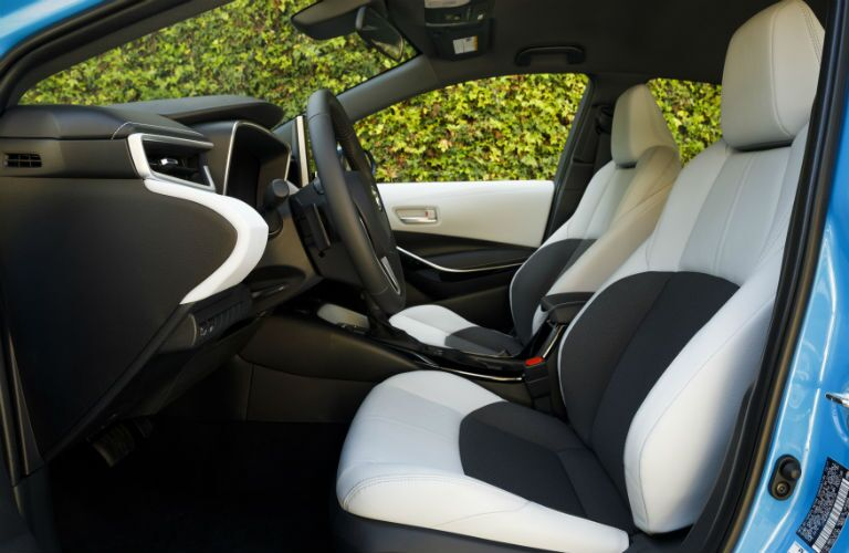 Interior view of 2020 Toyota Corolla Hatchback
