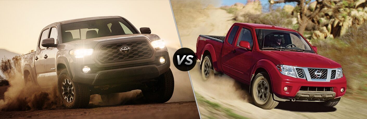A side-by-side comparison of the 2020 Toyota Tacoma vs. 2020 Nissan Frontier.