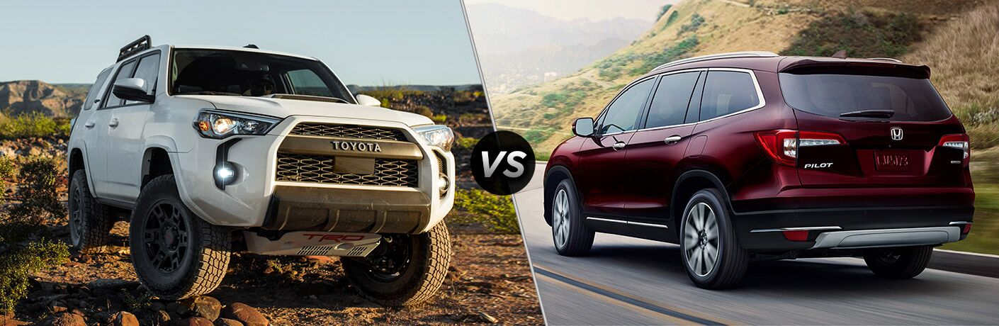 A side-by-side comparison between the 2020 Toyota 4Runner vs. 2020 Honda Pilot.