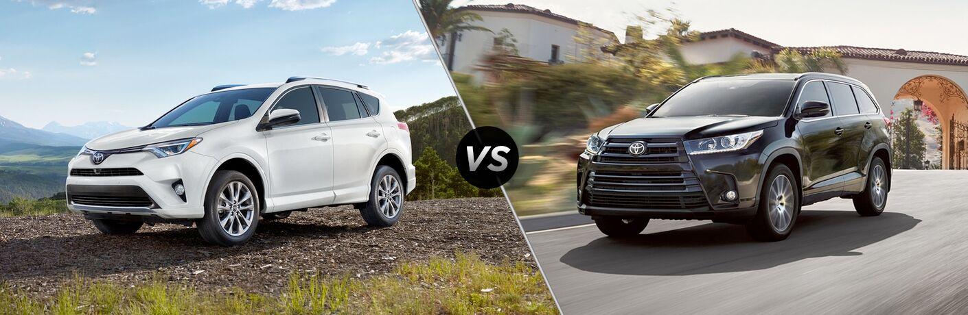 2018 Toyota RAV4 vs 2018 Toyota Highlander