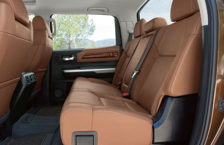 Side view of the rear seats in the 2019 Toyota Tundra