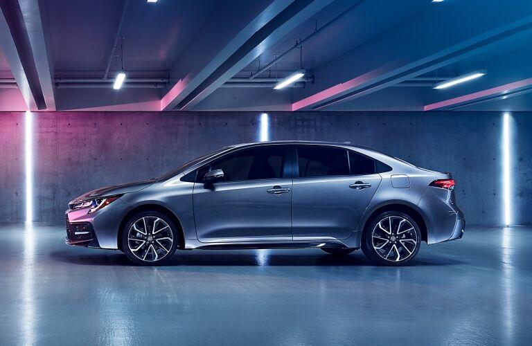 2020 Toyota Corolla in a garage