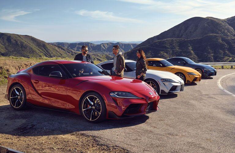 2020 Toyota GR Supra models in a row