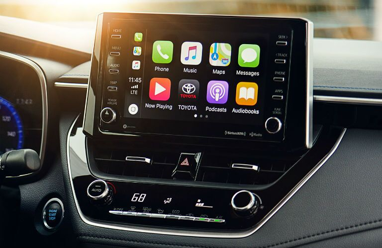 Touchscreen display of the 2020 Toyota Corolla