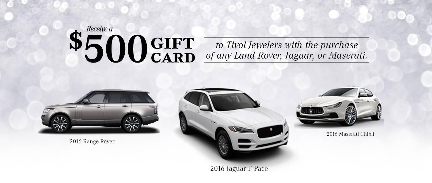 Aristocrat Motor's December Incentive gift card