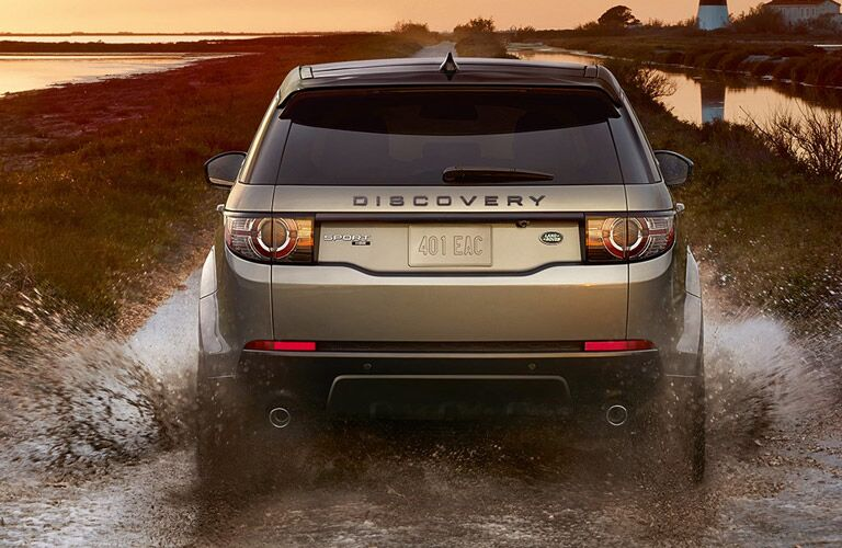 2017 Land Rover Discovery Sport fording a river