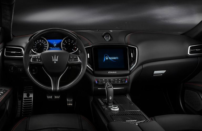 2020 Maserati Ghibli dashboard and steering wheel