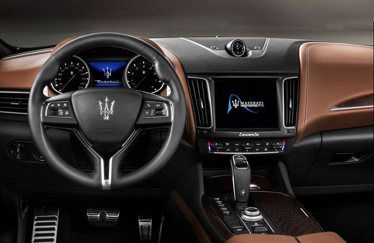 2020 Maserati Levante dashboard and steering wheel