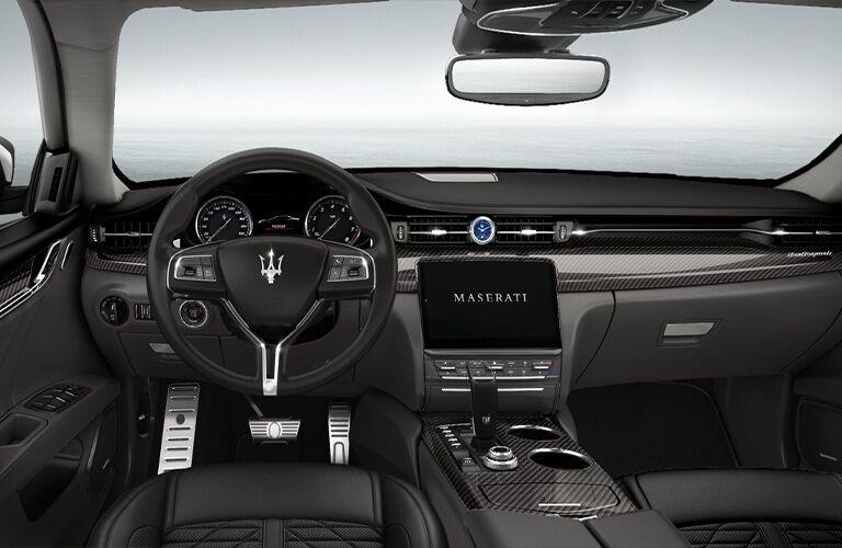 2021 Maserati Quattroporte Trofeo steering wheel and dashboard
