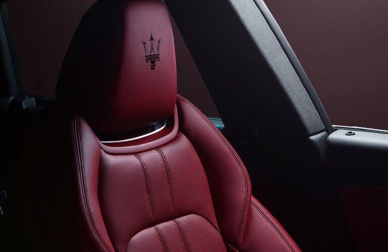 2021 Maserati Levante read leather seats