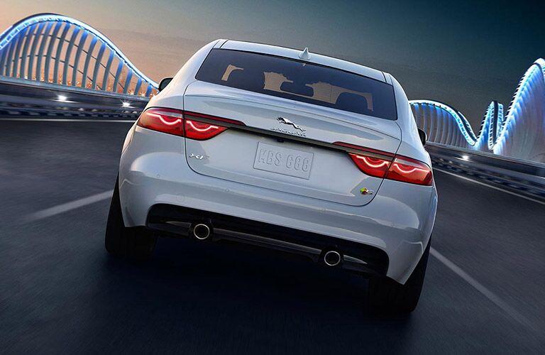 Jaguar vehicle driving on a bridge