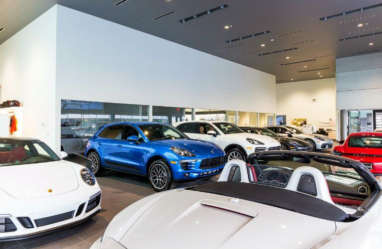 showroom at porsche kansas city