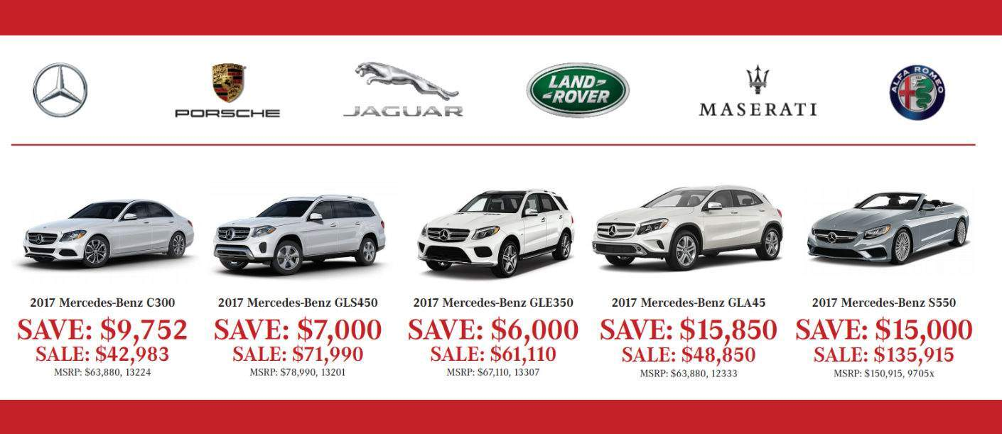first slide of offers for the 2017 Aristocrat Motors Demonstrators Sale