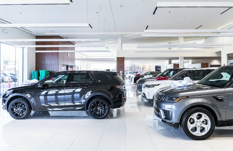 Aristocrat Land Rover showroom