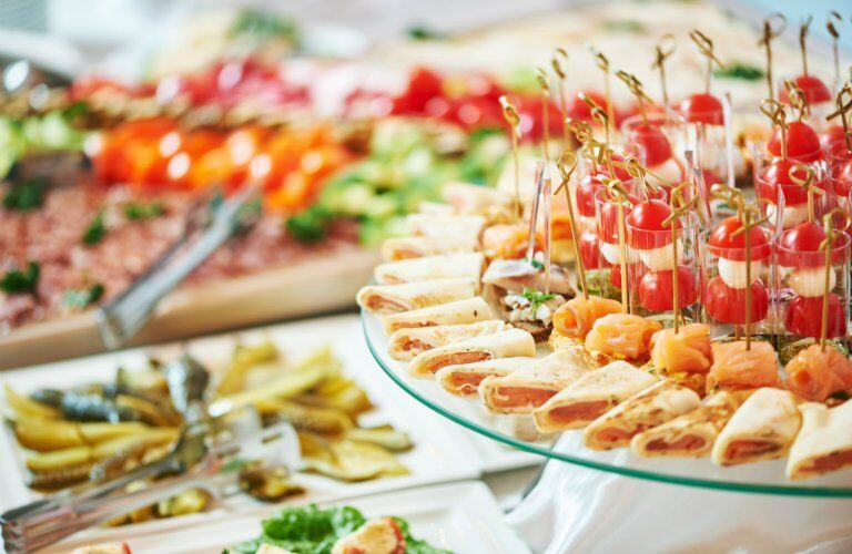 delicious and exotic hors d'oeuvres