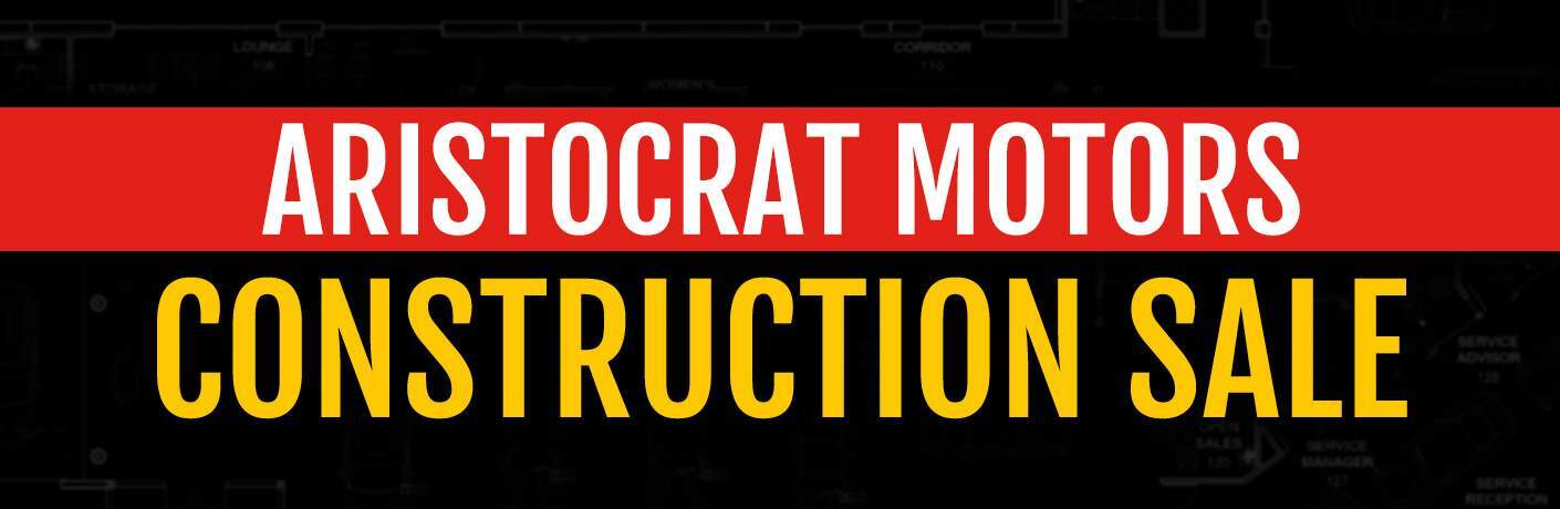 Aristocrat Motors Construction Sale Graphic
