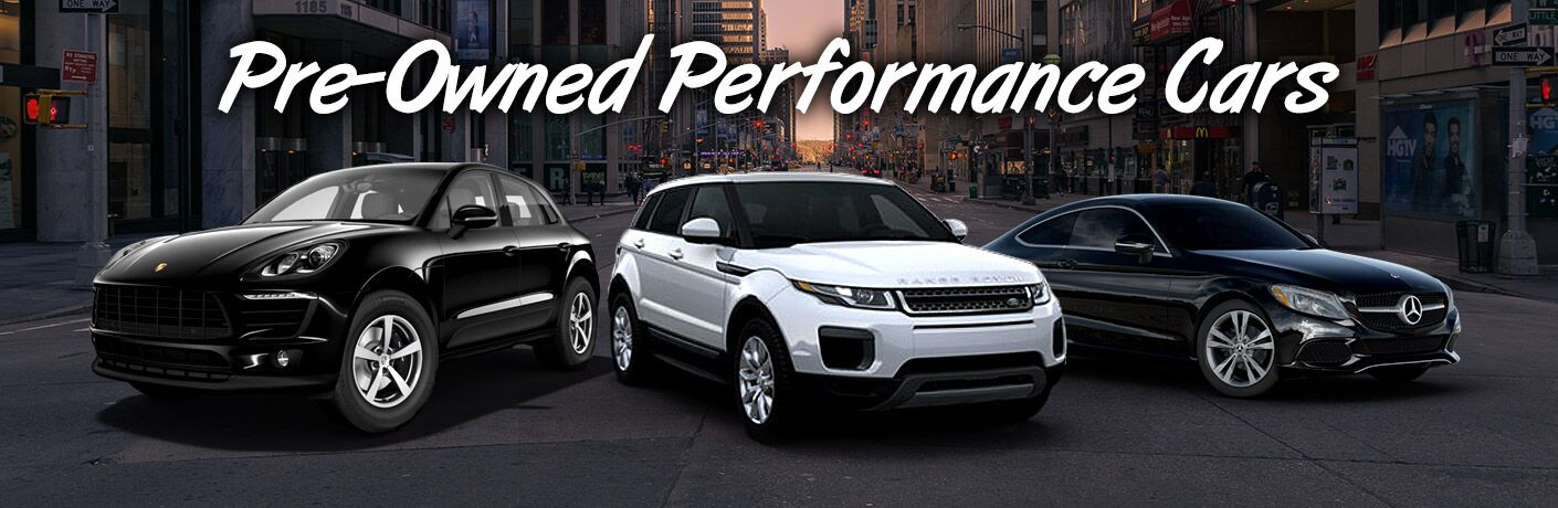 Pre-Owned Performance Cars in Merriam KS - luxury vehicles with a city background