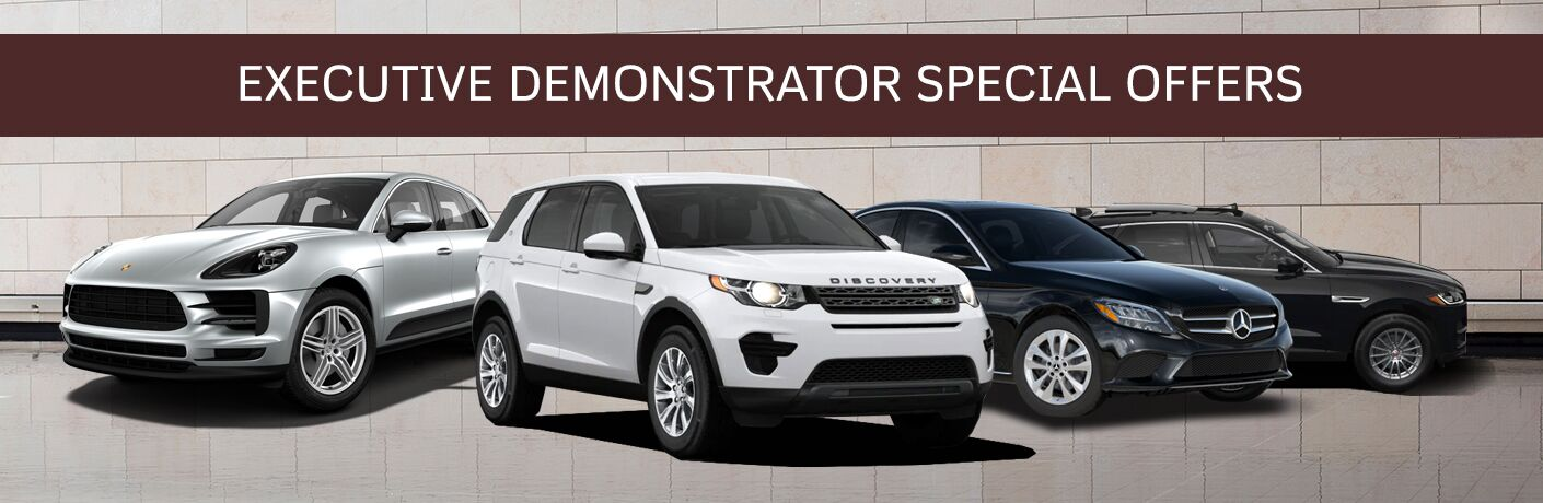 Executive Demo Special Offers at Aristocrat Motors featuring a selection of luxury vehicles