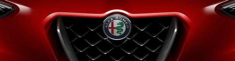 grille close-up of an Alfa Romeo vehicle