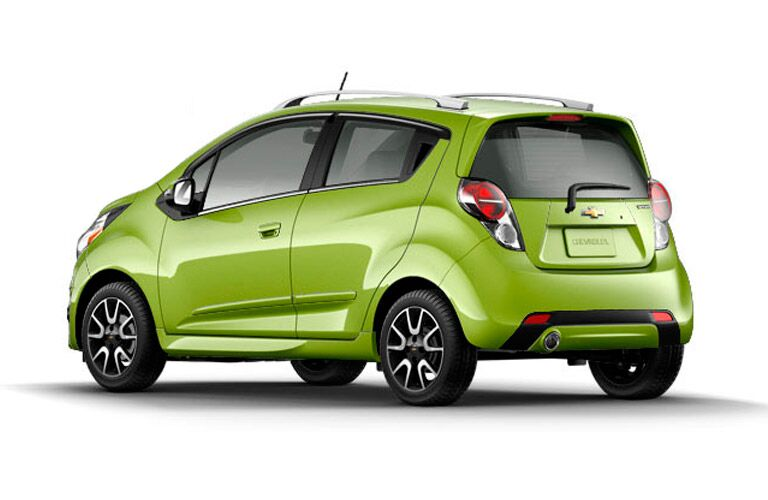 Green Chevy Spark white background