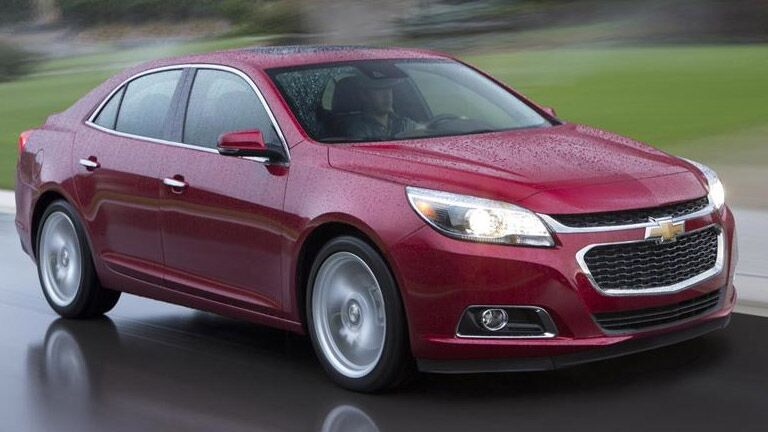 Used Chevrolet Malibu driving in rain