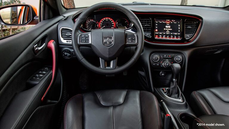 2014 Dodge Dart interior steering wheel shot