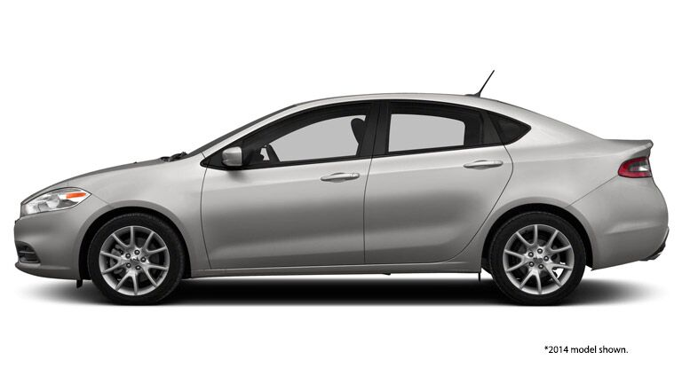 2014 Dodge Dart against blank white background
