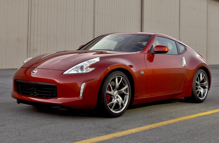 2013 Nissan 370Z exterior front fascia and drivers side on road