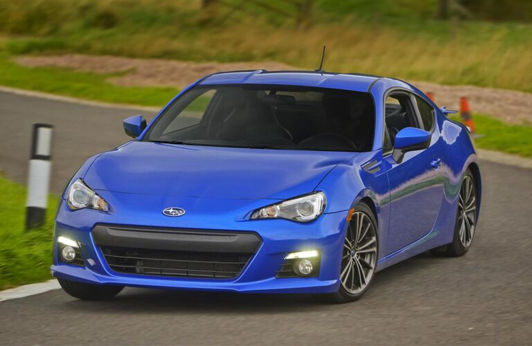 2014 Subaru BRZ Premium exterior front fascia and drivers side on road