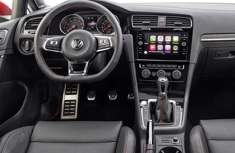 2018 VW Golf GTI steering wheel and infotainment screen
