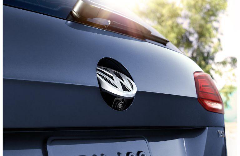 rear back up camera of blue 2019 Volkswagen Golf SportWagen