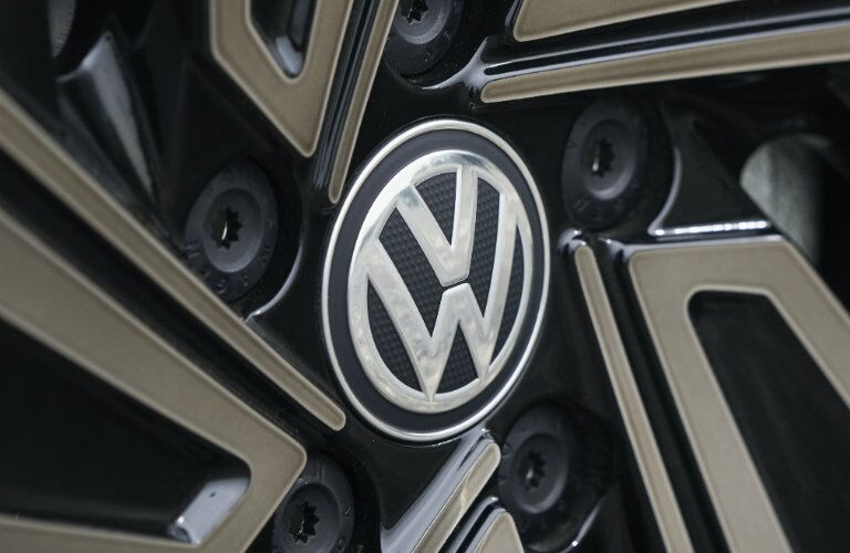 Close-up shot of 2019 Volkswagen Jetta wheel