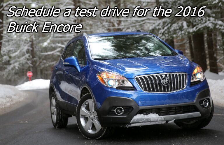 schedule test drive for the buick encore